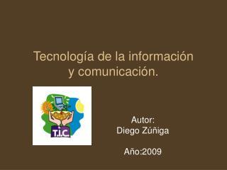 Tecnolog a de la informaci n y comunicaci n.