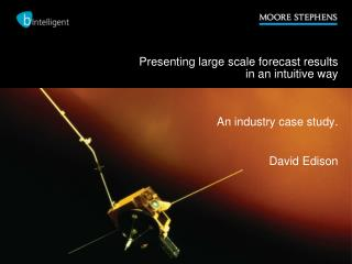 Presenting large scale forecast results  in an intuitive way