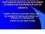 ORGANIZAREA EXERCITIULUI DE EVACUARE IN UNITATILE DE INVATAMINT IN CONDITII DE SIGURANTA IN CAZ DE URGENTA