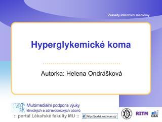 Hyperglykemick  koma