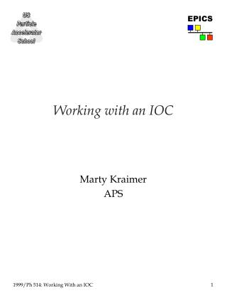 Working with an IOC