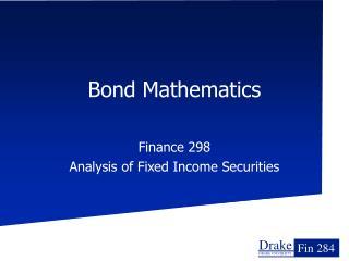 Bond Mathematics