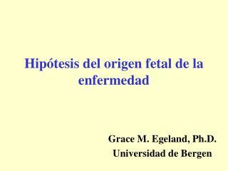Hip tesis del origen fetal de la enfermedad