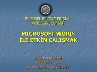 MICROSOFT WORD  ILE ETKIN  ALISMAK