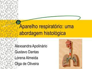 Aparelho respirat rio: uma abordagem histol gica
