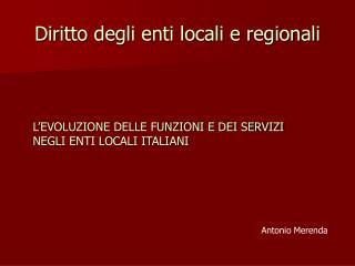 Diritto degli enti locali e regionali