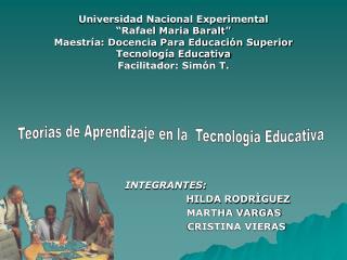 Universidad Nacional Experimental   Rafael Maria Baralt   Maestr a: Docencia Para Educaci n Superior Tecnolog a Educativ