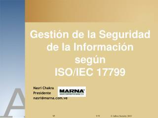 Gesti n de la Seguridad de la Informaci n  seg n  ISO