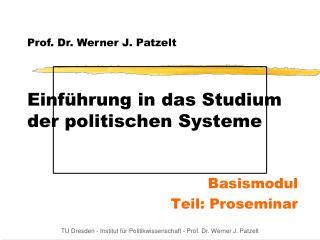 Einf hrung in das Studium der politischen Systeme