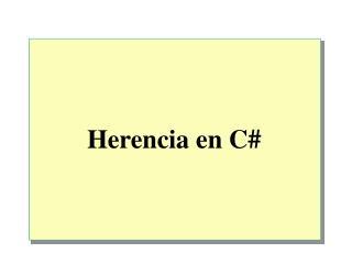 Herencia en C