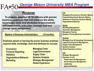George Mason University MBA Program
