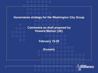 Governance strategy for the Washington City Group