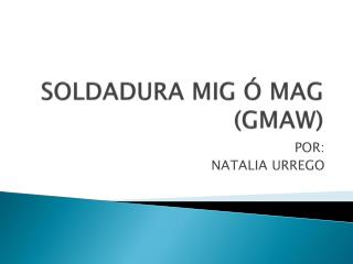 SOLDADURA MIG   MAG GMAW