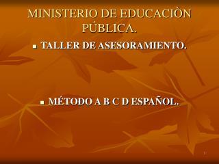 MINISTERIO DE EDUCACI N P BLICA.