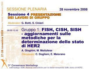 09.00-10.00 Gruppo 1: FISH, CISH, SISH   - aggiornamenti sulle   metodiche per la   determinazione dello stato   di HER2