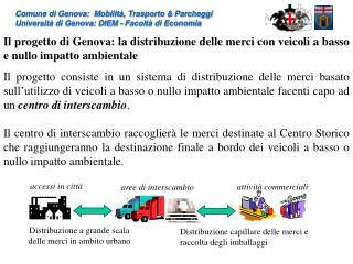 Comune di Genova:  Mobilit , Trasporto  Parcheggi  Universit  di Genova: DIEM - Facolt  di Economia