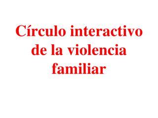 C rculo interactivo de la violencia familiar