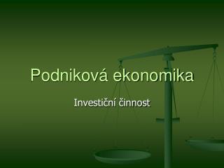 Podnikov  ekonomika