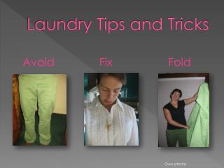 Laundry tricks and tips