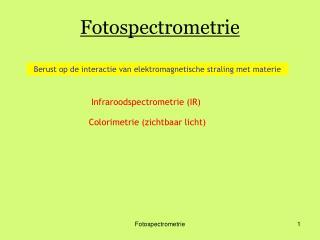 Fotospectrometrie