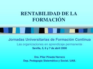 RENTABILIDAD DE LA FORMACI N