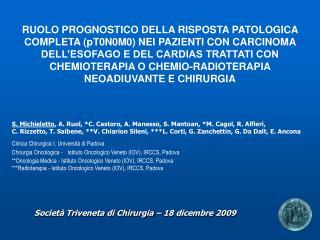 Societ  Triveneta di Chirurgia   18 dicembre 2009