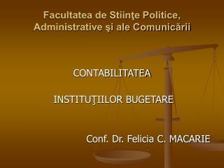Facultatea de Stiinte Politice, Administrative si ale Comunicarii
