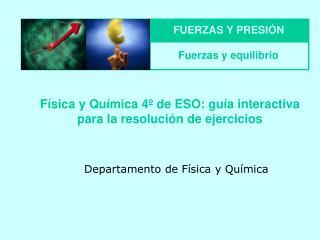 F sica y Qu mica 4  de ESO: gu a interactiva para la resoluci n de ejercicios