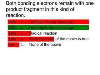 Both bonding electrons remain with one product fragment in this kind of reaction.
