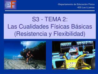 S3 - TEMA 2: Las Cualidades F sicas B sicas Resistencia y Flexibilidad