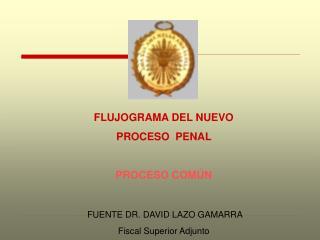 FLUJOGRAMA DEL NUEVO  PROCESO  PENAL   PROCESO COM N   FUENTE DR. DAVID LAZO GAMARRA   Fiscal Superior Adjunto