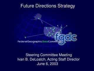 Steering Committee Meeting  Ivan B. DeLoatch, Acting Staff Director            June 6, 2003