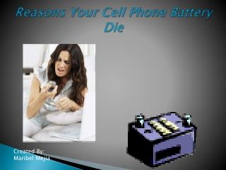 Reasons Your Cell Phone Battery Die