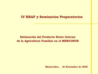 IV REAF y Seminarios Preparatorios