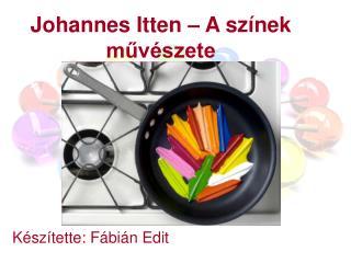 Johannes Itten   A sz nek muv szete