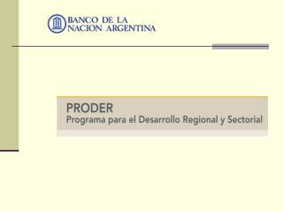 Programa de Desarrollo Regional y Sectorial