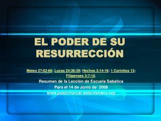 El poder de su resurrecci n
