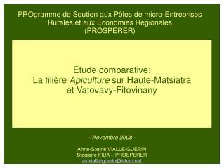 PROgramme de Soutien aux P les de micro-Entreprises Rurales et aux Economies R gionales  PROSPERER