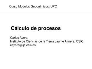 C lculo de procesos