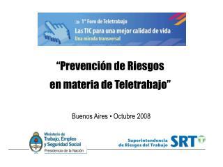 Prevenci n de Riesgos  en materia de Teletrabajo