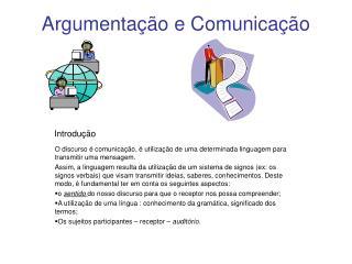 Argumenta  o e Comunica  o