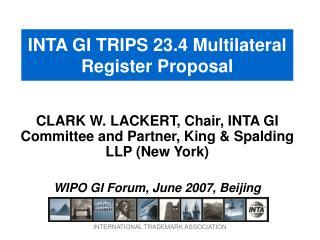 INTA GI TRIPS 23.4 Multilateral Register Proposal