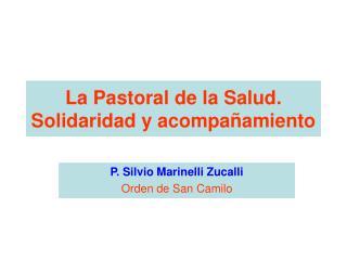 La Pastoral de la Salud.  Solidaridad y acompa amiento