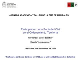 Participaci n de la Sociedad Civil en el Ordenamiento Territorial   Por Gonzalo Duque Escobar   Claudia Torres Arango