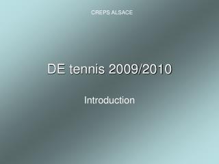 DE Tennis
