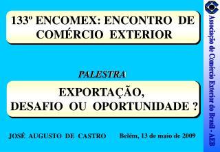 133  ENCOMEX: ENCONTRO  DE  COM RCIO  EXTERIOR