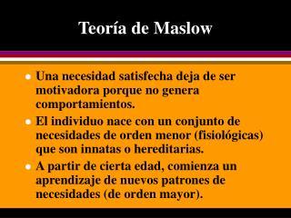 Teor a de Maslow