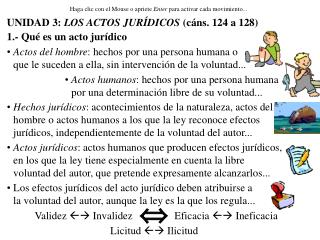 UNIDAD 3: LOS ACTOS JUR DICOS c ns. 124 a 128