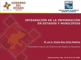 Zacatecas, Zac. a 30 de Agosto del 2003