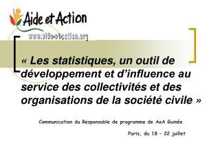 Les statistiques, un outil de  d veloppement et d influence au service des collectivit s et des organisations de la so